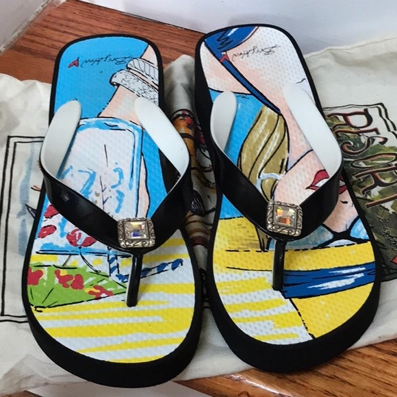 Brighton Shoes - 🎀 Brighton platform flip flops in Julep black 🎀